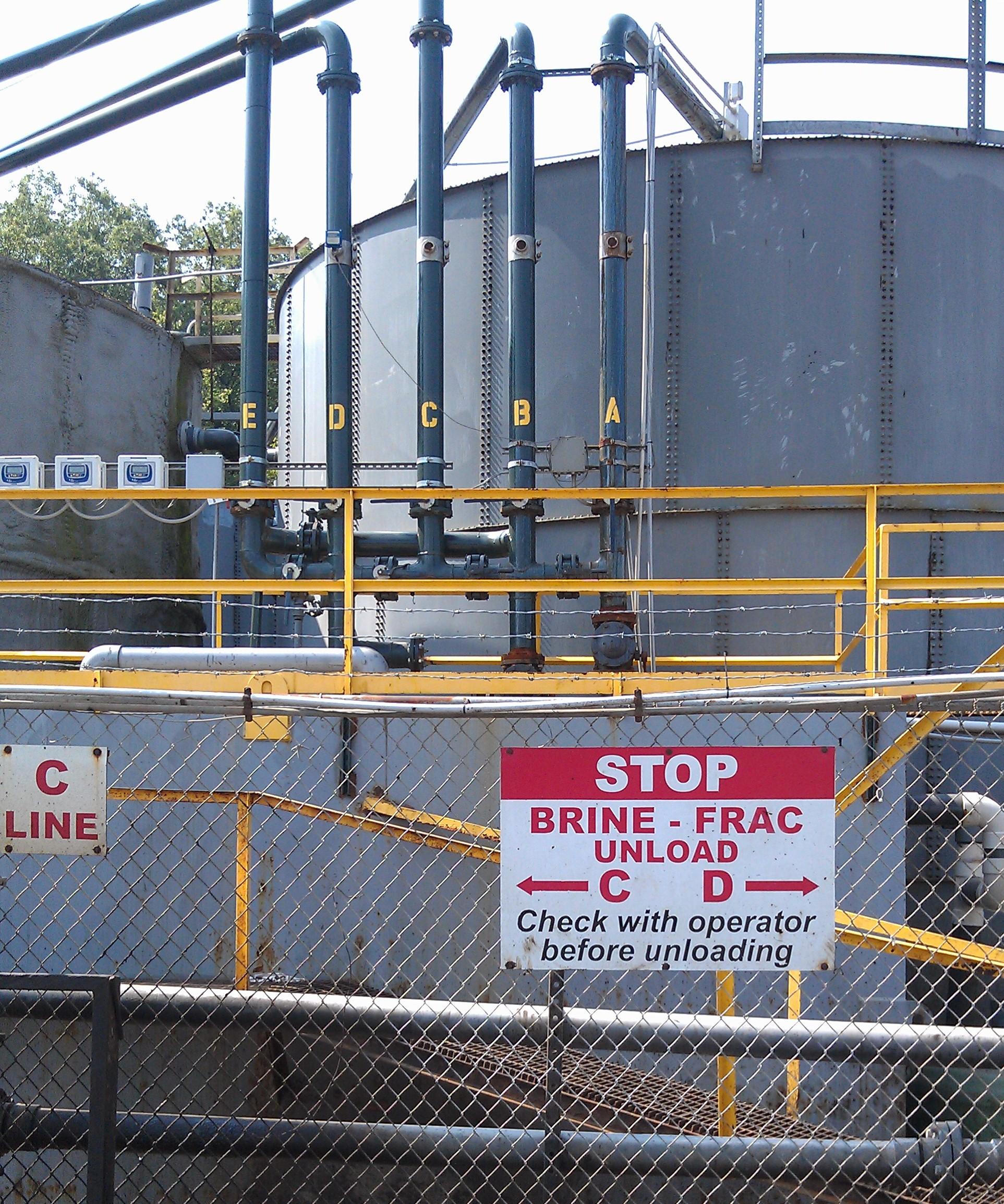 Fracking waste trucks